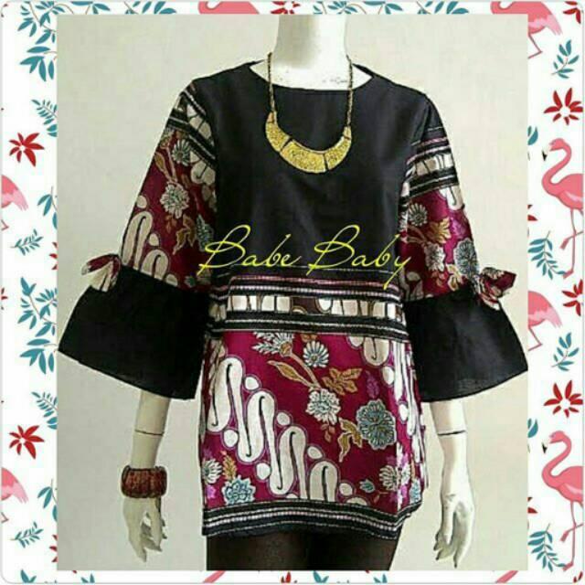 Blouse Batik Lengan Lonceng Shopee Indonesia