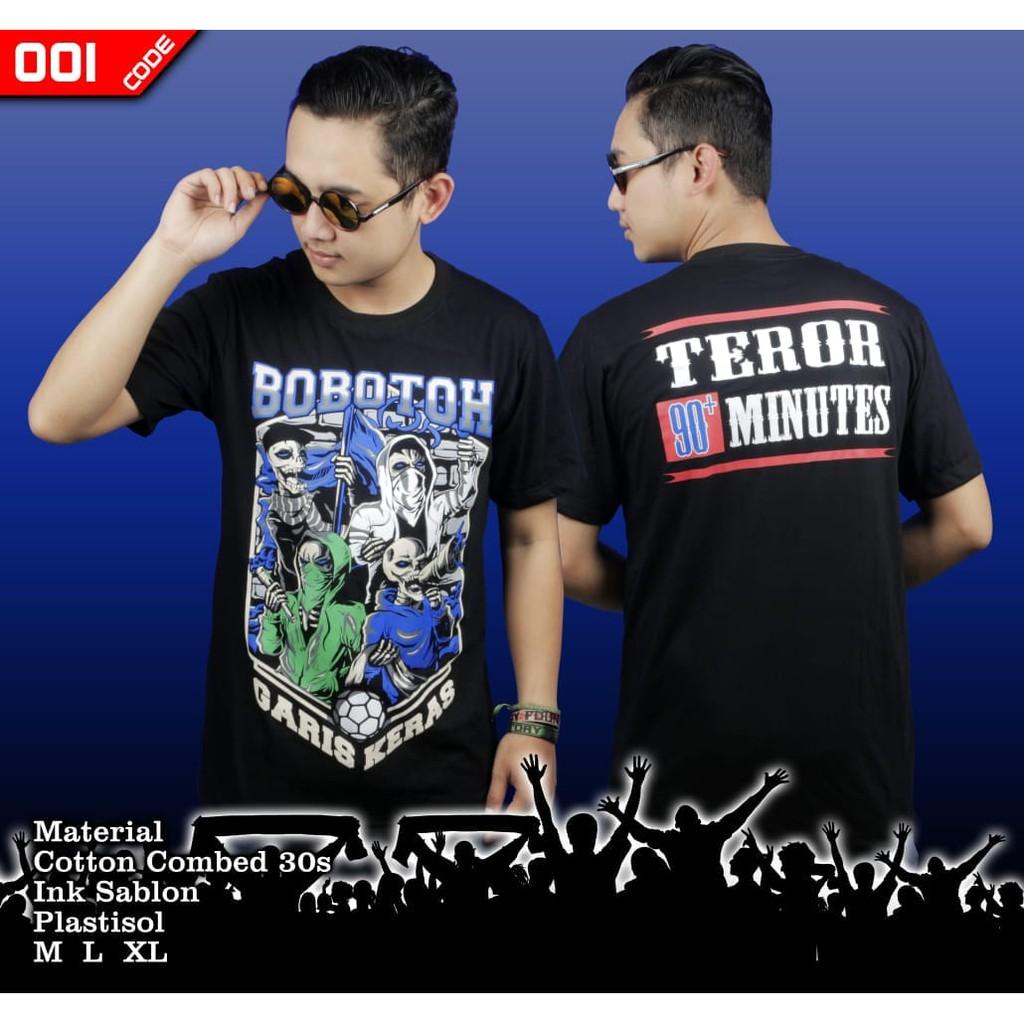 Kaos Persib Bobotoh Edisi Garis Keras Shopee Indonesia Ramayana Raf Tshirt Hitam Titanium Xl