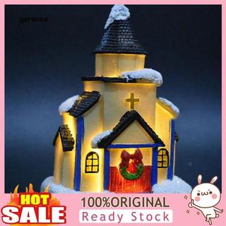 ga hiasan miniatur rumah salju dengan lampu untuk dekorasi