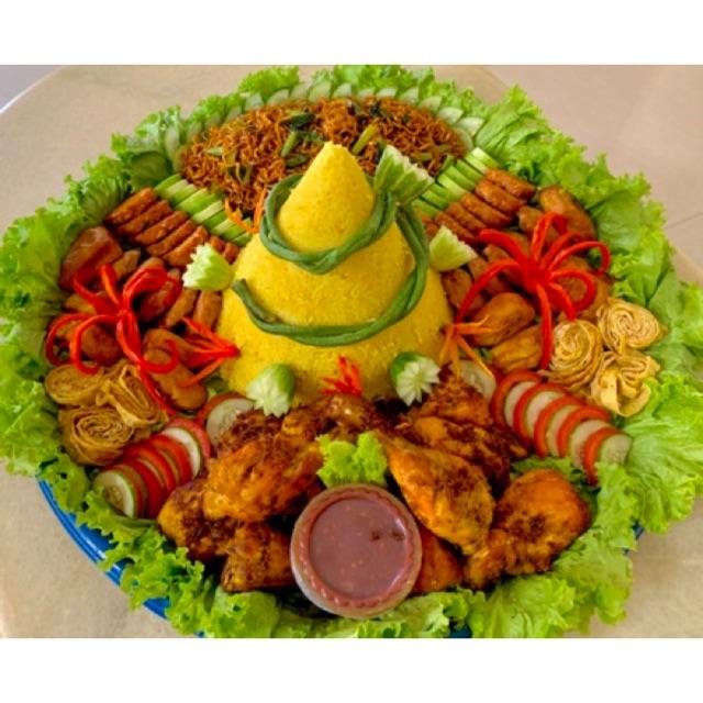 Tumpeng Nasi Kuning Besar 10 15 Orang Shopee Indonesia