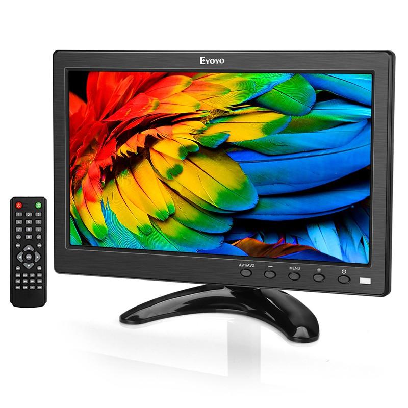 "10.1"" Monitor HD TFT LCD TV /& PC Screen AV//RCA//VGA//HDMI Input for Home Security"