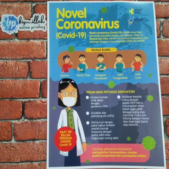 Poster Kesehatan Virus Corona Shopee Indonesia