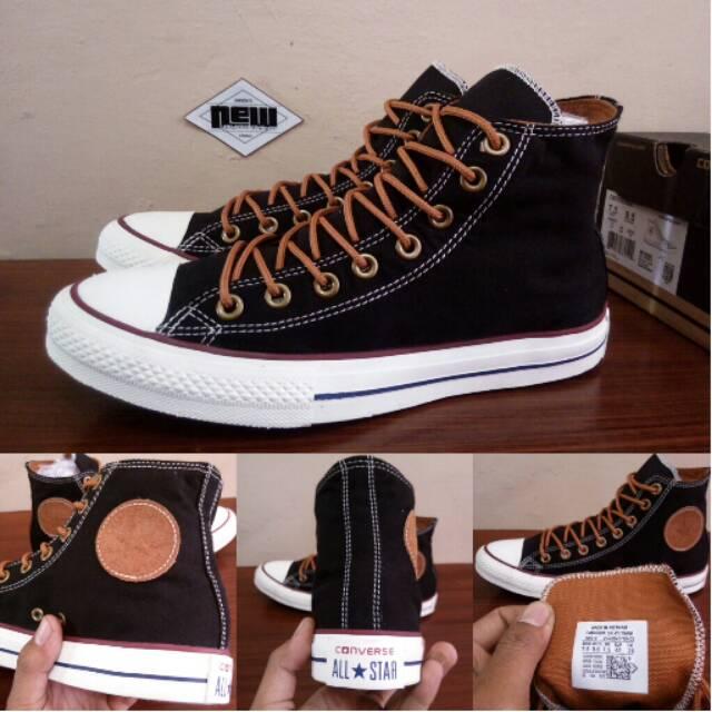 Sepatu Converse CT All Star PEACHED Black Hitam White Coklat Tan High - Ori  Original PREMIUM Vietnam  e6ff55ef36