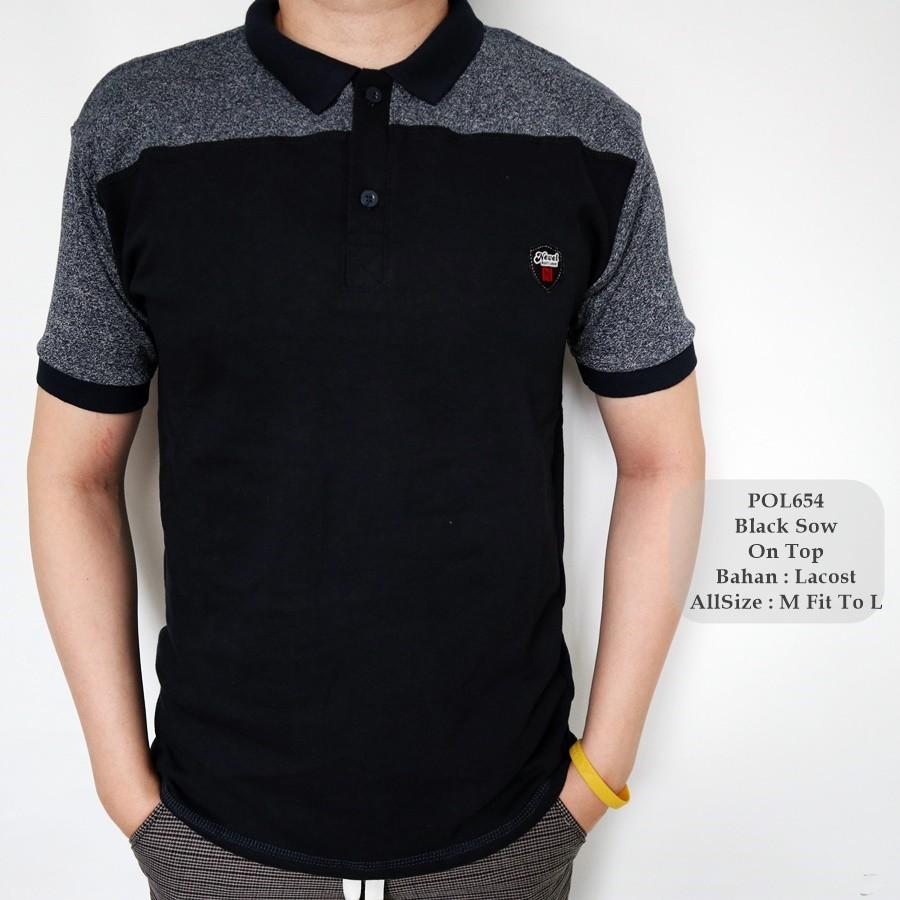 Kaos Kerah Polo Pria Lacos Male Green Line H 0077 Shopee T Shirt Distro Hrcn 0246 Indonesia
