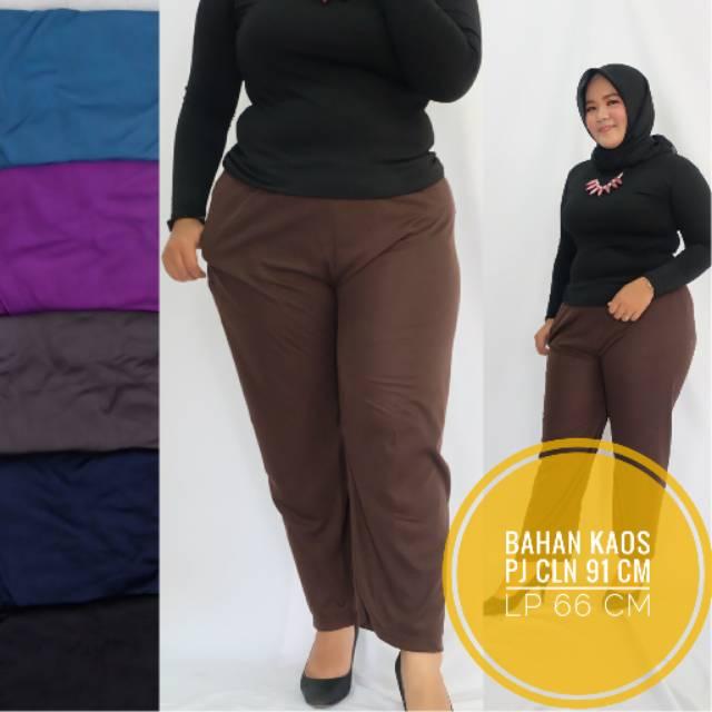Legging Kaos Jumbo Celana Panjang Wanita Polos Big Size Grosir Solo Murah Celamis Innerpants Shopee Indonesia