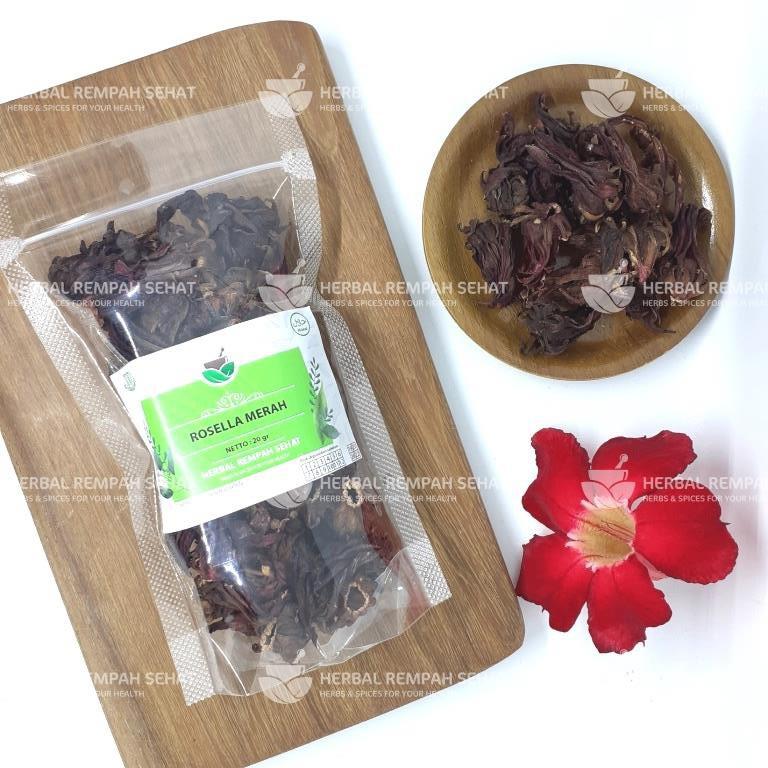 Bunga Rosella Teh Rosella Merah Original Shopee Indonesia