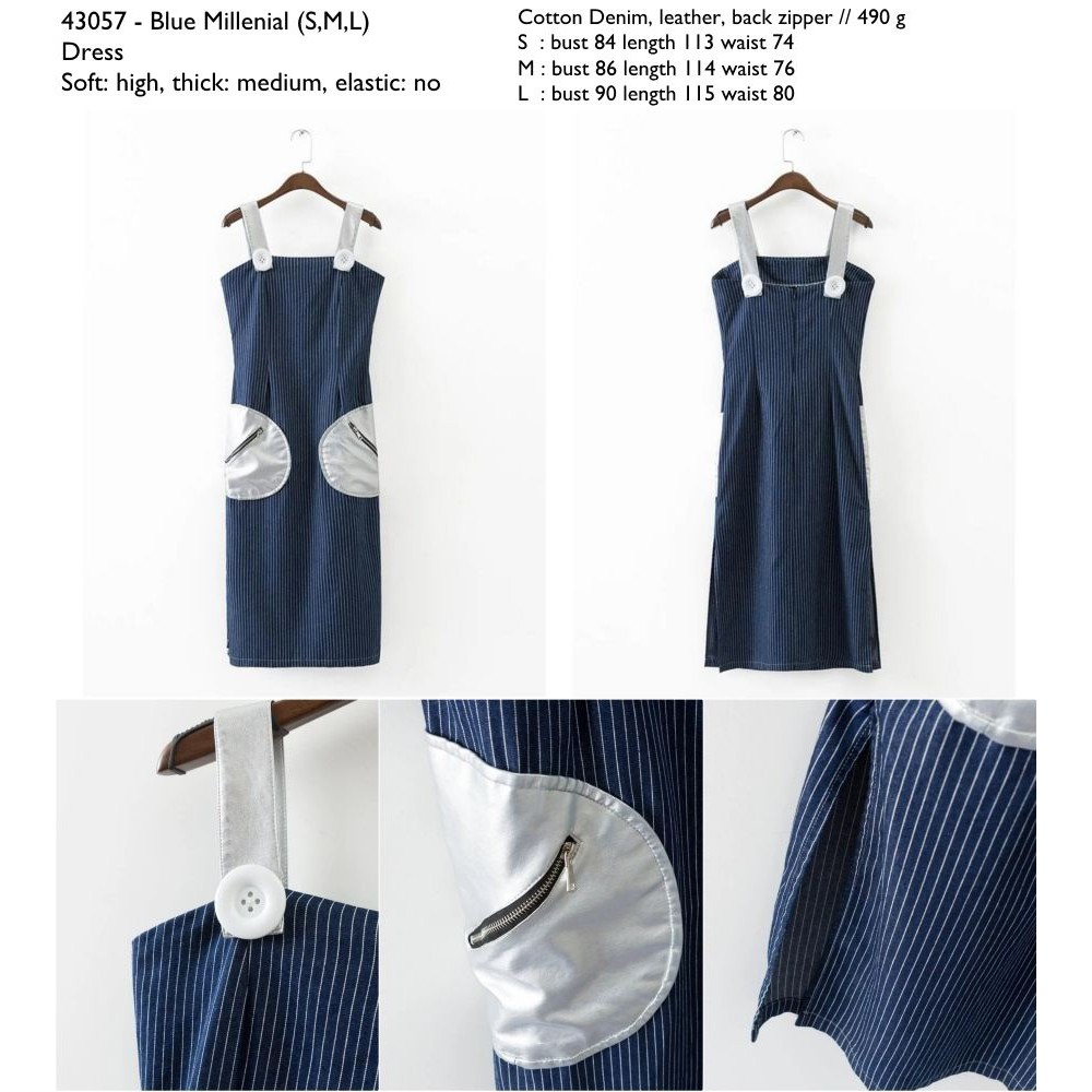Chocochips Zelma Dress Blue Shopee Indonesia White