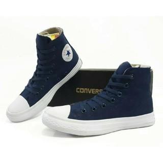Sepatu Converse Chuck Tailor Ct High Hitam Merah Biru Dongker Keren Murah  Size Cewek Cowok 951fc37b51