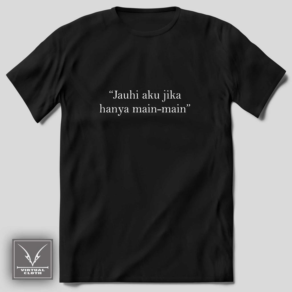 Kaos Kata Bucin Baper Cinta Caption Custom Hitam Unik Murah 30s