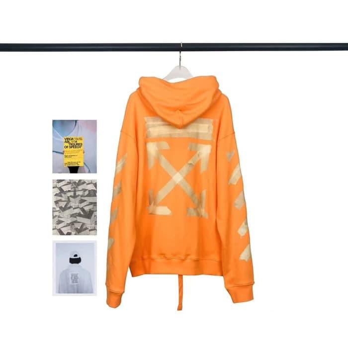 Hoodie Off White Orange Tape Arrows (Oversized)