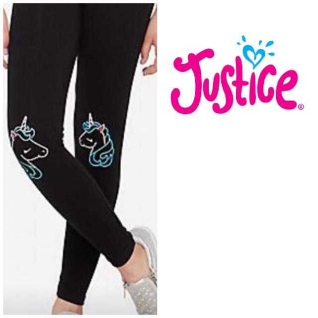 Celana Legging Anak Perempuan Merk Justice Motif Unicorn Shopee Indonesia