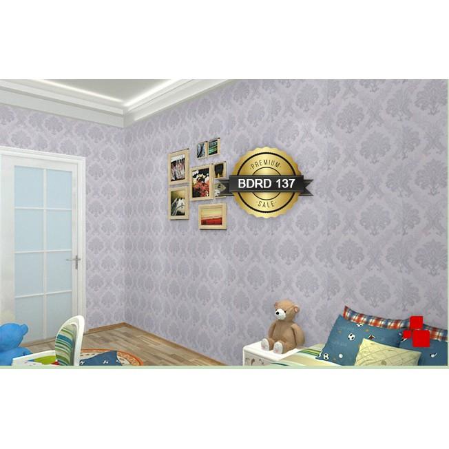 Wallpaper Sticker / Walpaper Dinding - 10M x 45CM - Kotak Pohon 3D Ungu Biru Cream Putih 047 048 053   Shopee Indonesia