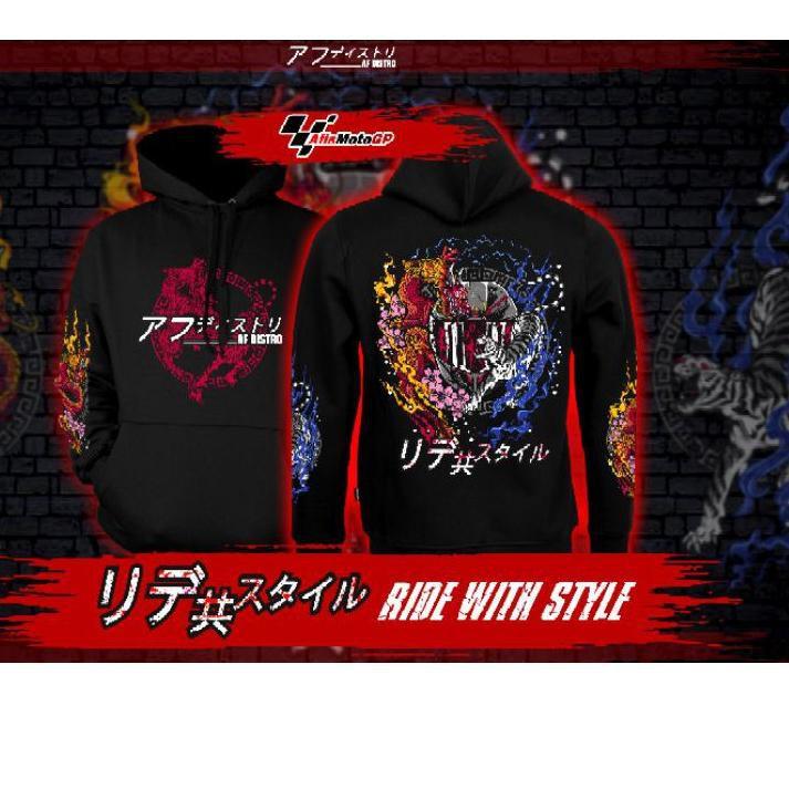 【 2.2 】 SHOPHEE hoodie sunmori japanese limited edition ride with style hoodie kohaku naga tiger agv