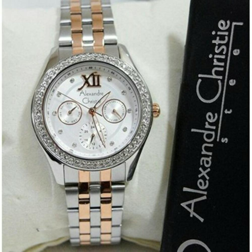 Alexandre Christie Wanita Ac 8505 Original Shopee Indonesia 2438 Bf White Rose Gold