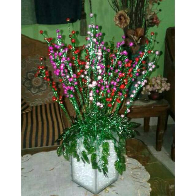Putik Hias Pemanis Bunga Akrilik Bulat Shopee Indonesia