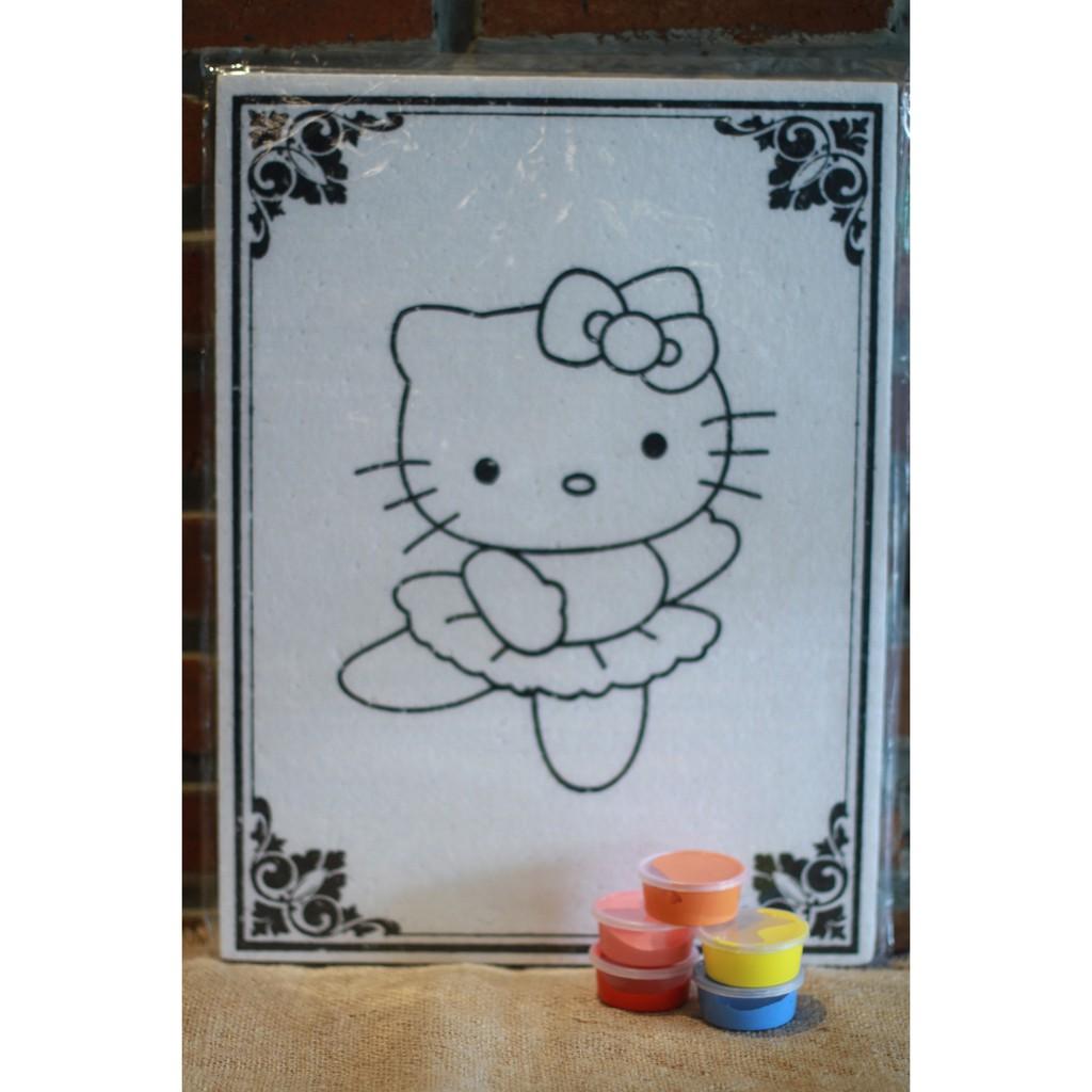 Bubba Toys Permainan Edukasi Anak Mewarnai Papan Gambar Hello Kitty