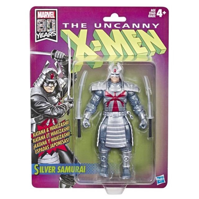 Marvel Legends Retro Silver Samurai Figurine Uncanny X-Men-New