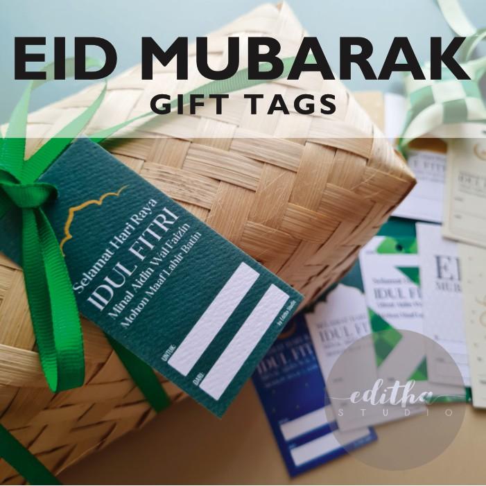 Gift Tag Idul Fitri Lebaran Eid Mubarak Gift Tags Shopee Indonesia
