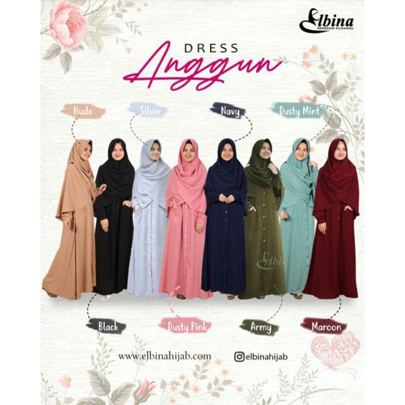DRESS ANGGUN SET KHIMAR ANGGUN-ELBINA HIJAB