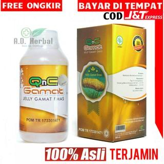 QNC jelly gamat - ORIGINAL asli 300ml ekstrak teripang gold g/emas
