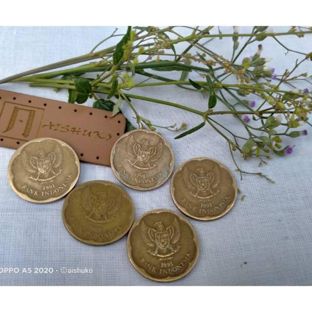Uang Koin 500 gambar melati tahun 1991