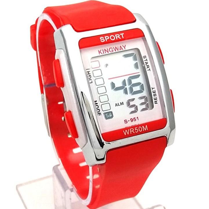 Jam tangan Sport Kingway Original Tahan Air Kotak  67578f14e8