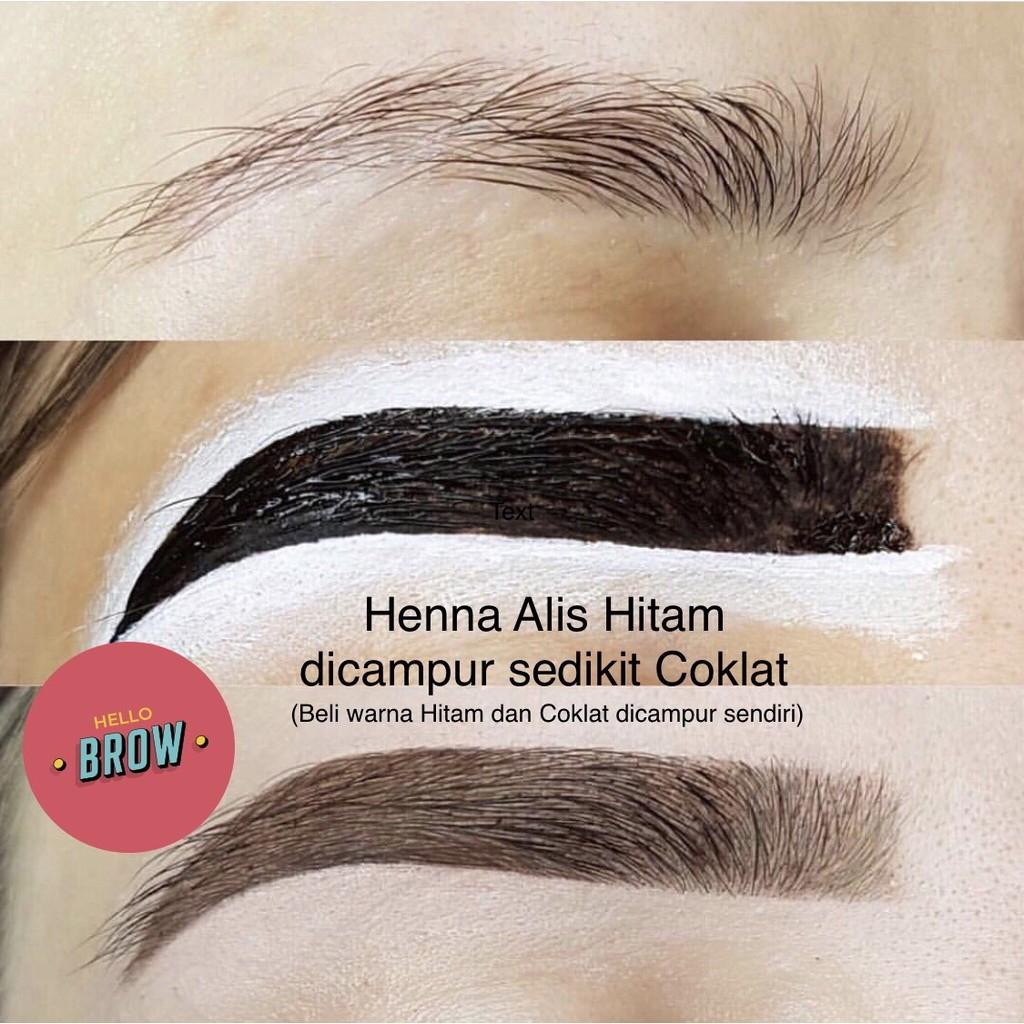 Hello Brow Henna Alis Saja Tanpa Kuas Henna Alis Arab Dari Bahan Alami Shopee Indonesia