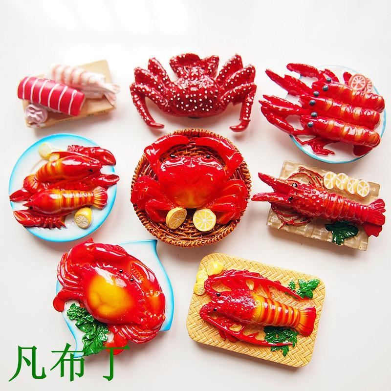 Fancycube Mangkok Makanan Sushi Kepiting Lobster 3d Kreatif