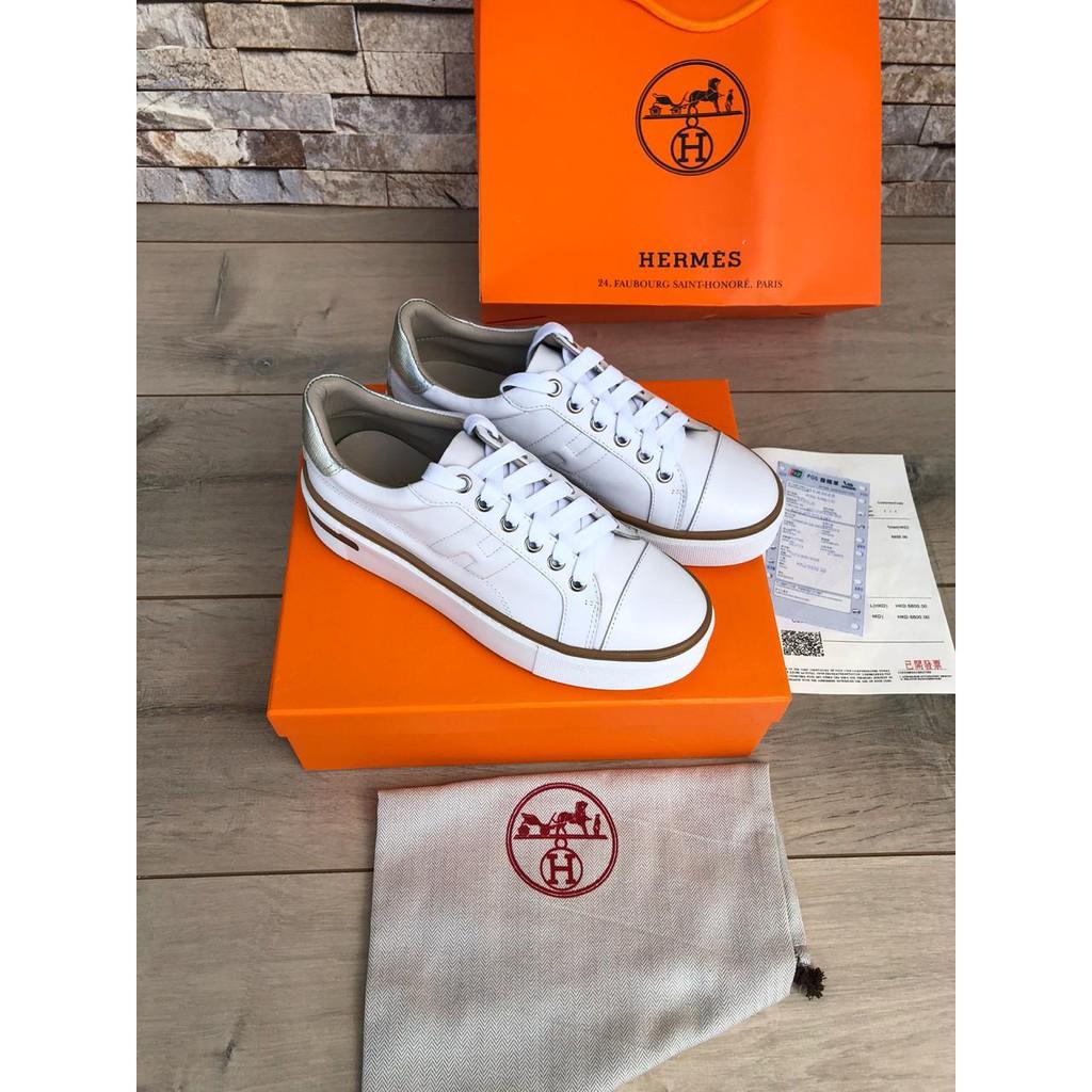Jual Sepatu Wanita Hermes Paris Sport Sneakers Shoes Bj 1538