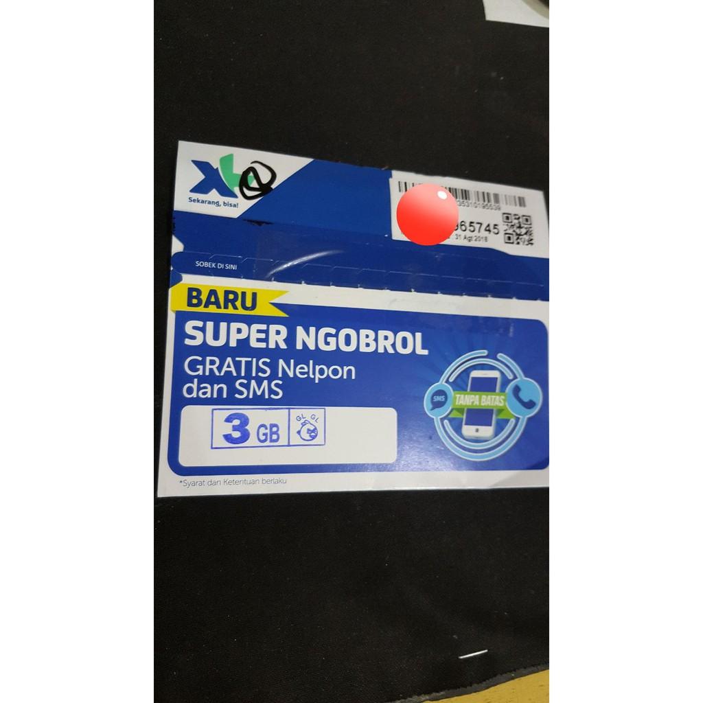 Voucher Pulsa Provider 3 Tri Three Nominal 1000 Shopee Kartu Perdana Xl  Super Ngobrol Gratis Nelpon Dan Sms Indonesia