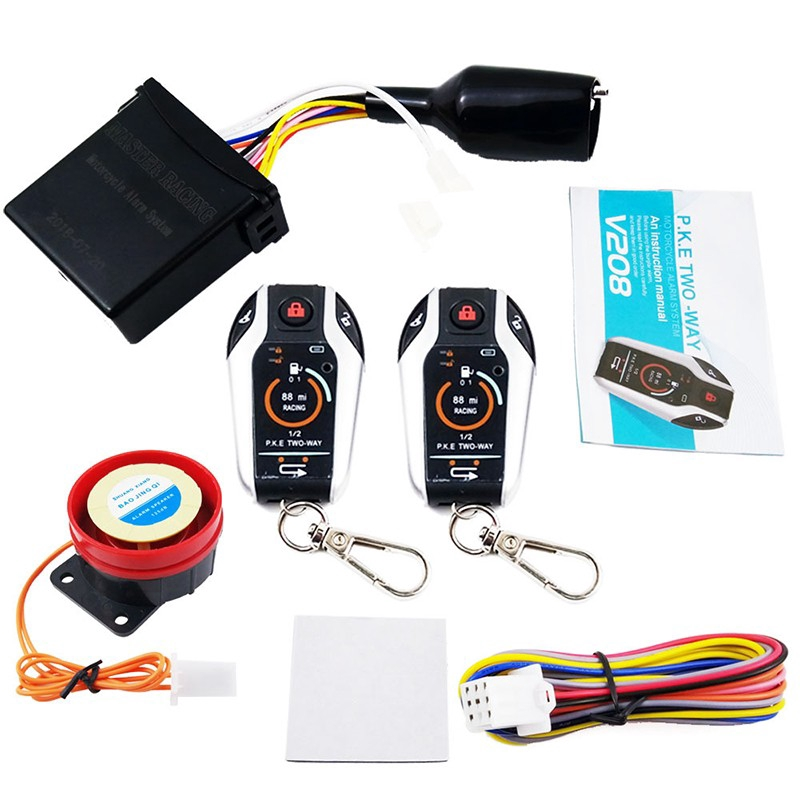Cod Two Way Alarm For Anti Theft Security Motorcycle Alarm System Remote Control Alarm System Shopee Indonesia