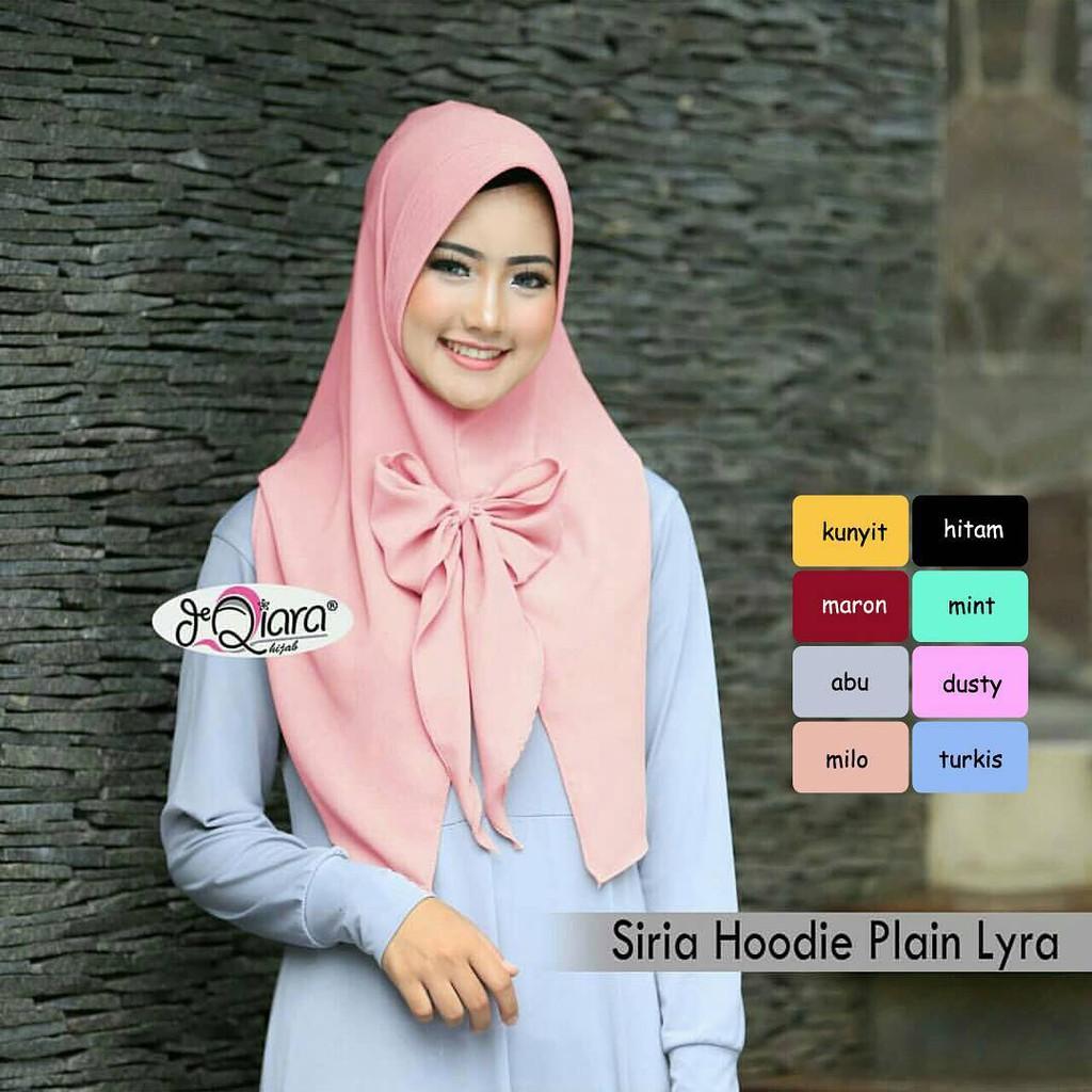 Hijab Jilbab Siria Hoodie Plain Lyra Shopee Indonesia Jilba
