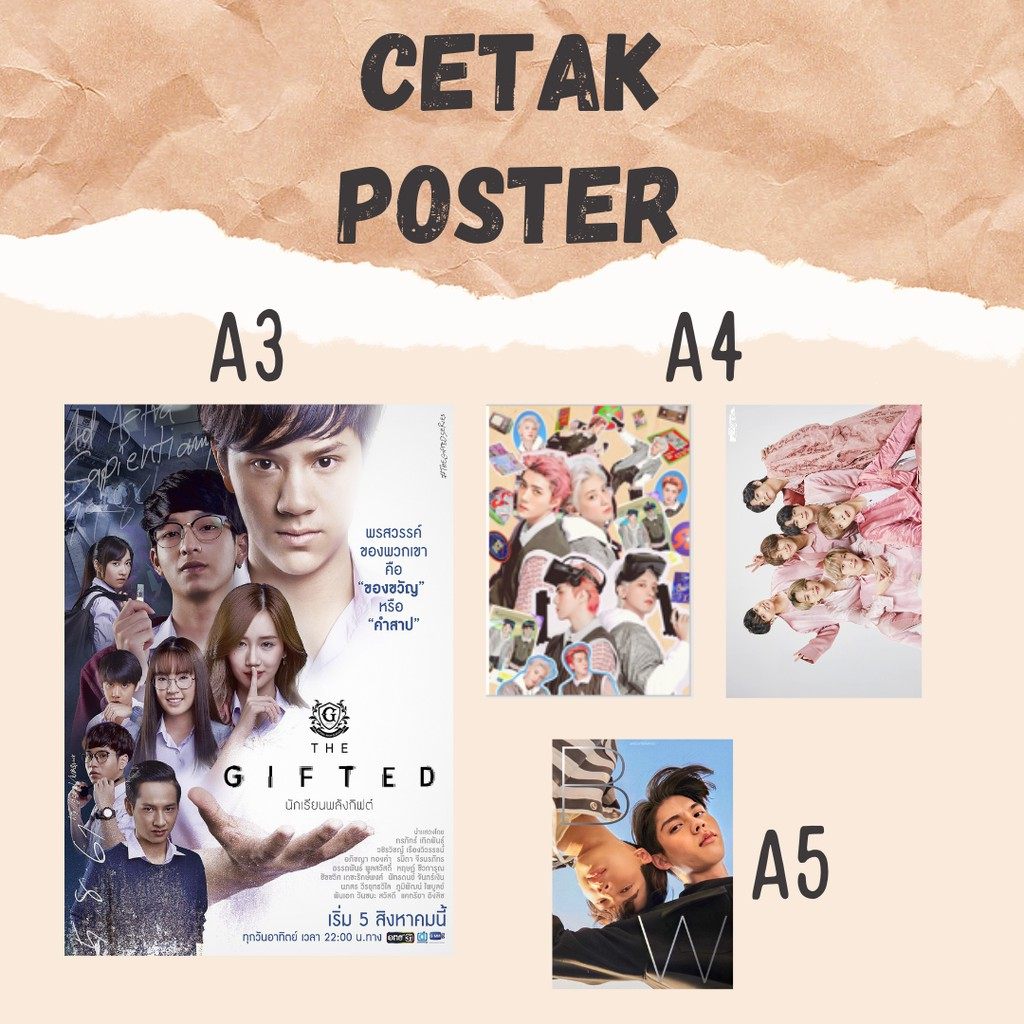 Cetak Poster Aesthetic Custom Kpop Bts Exo Brightwin A5 A4 A3 Hiasan Dinding Custom Fanmade Shopee Indonesia