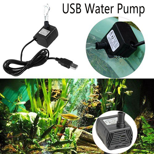 Pompa Air Celup Mini Usb Dc3 5 9v 3w Brushless Submersible Water Pump Aquarium Shopee Indonesia