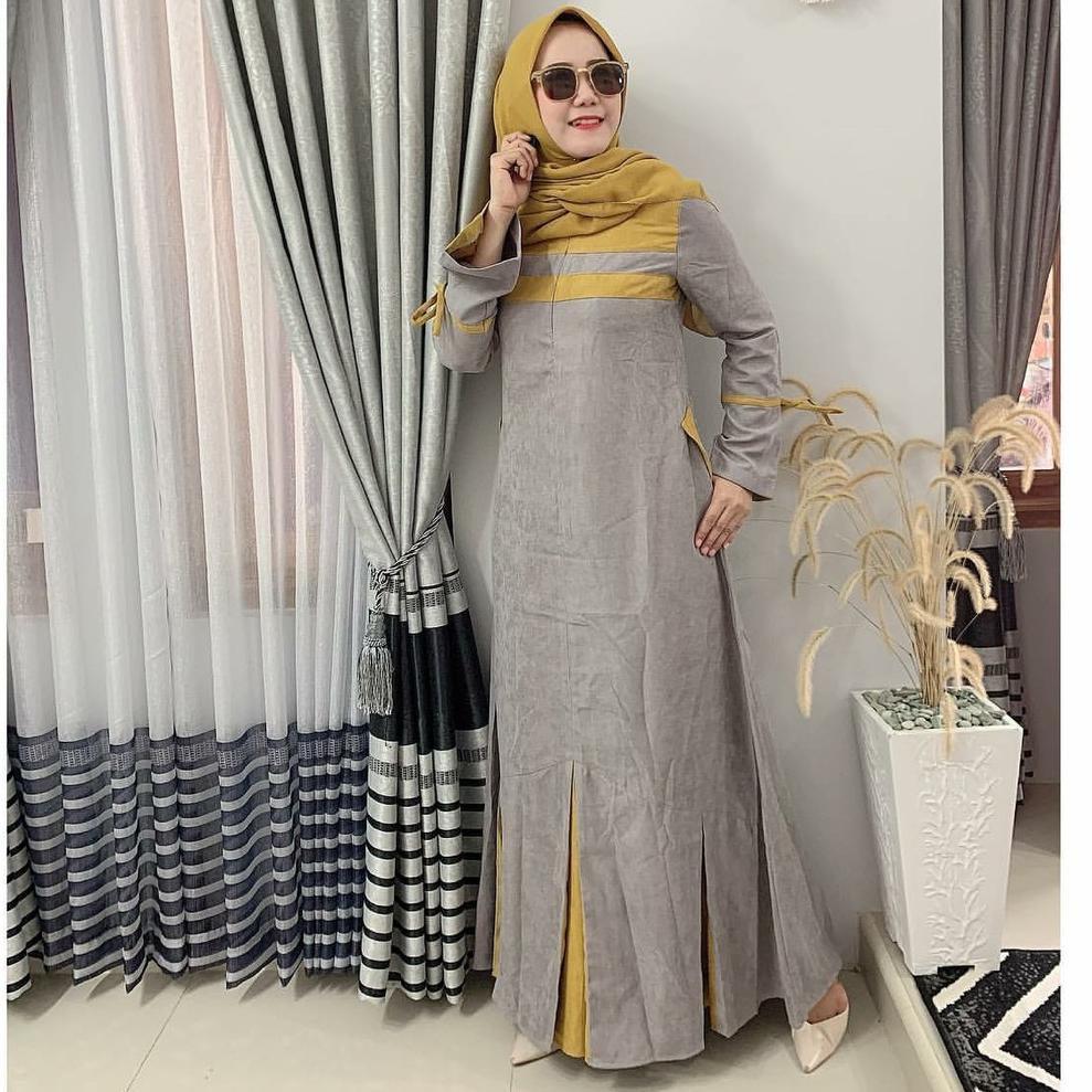 gvt80〠 Kaila Dress by Zalifa Exclusive Collection - Baju Muslim Wanita - Gamis °•.¸¸.•°`
