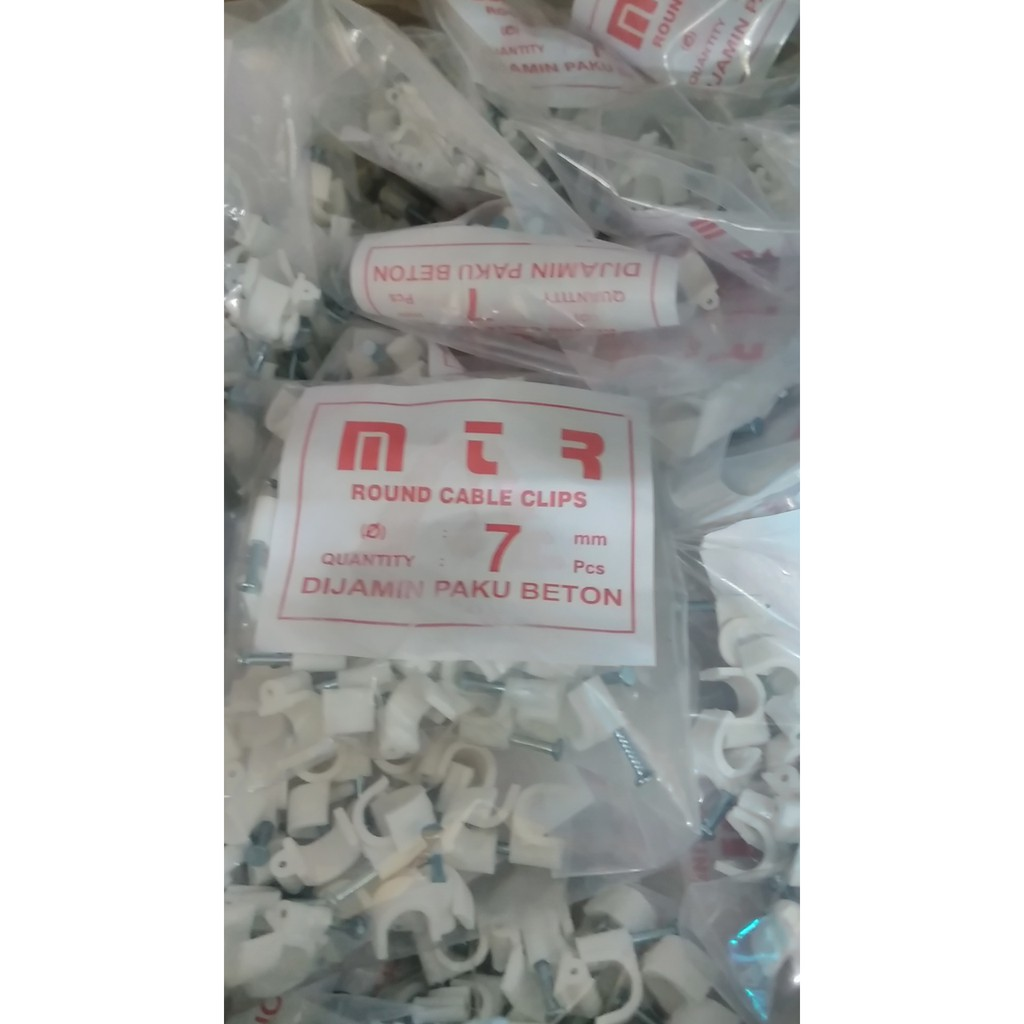 Paku Beton Set Klem Kabel 7mm Shopee Indonesia
