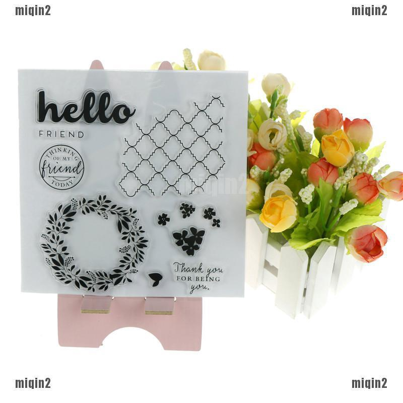 Greetings Words DIY Silicone Clear Rubber Stamp Sheet Scrapbooking Album