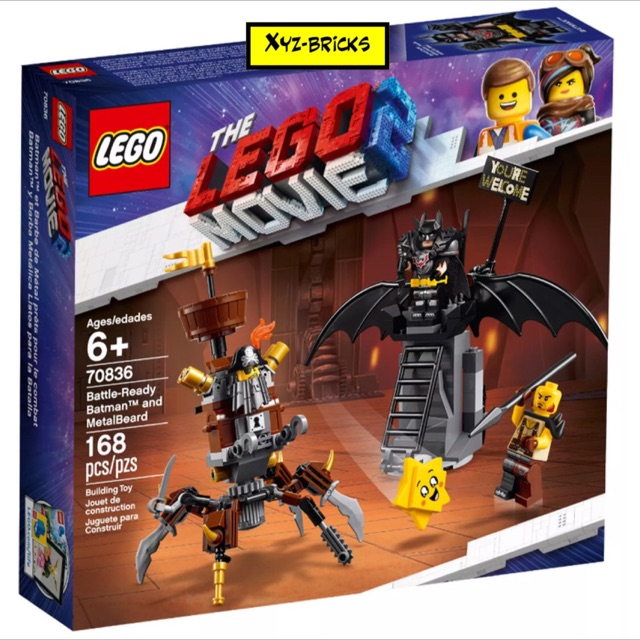 LEGO MOVIE 2 BATMAN minifigur avec 2 batarangs vélo de 70836