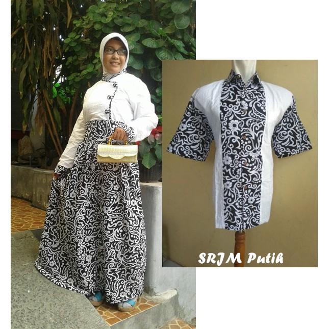 couple batik jumbo xxl xxxl 4L sarimbit gamis pesta baju pasangan seragam  SRJM 9119ea08fc