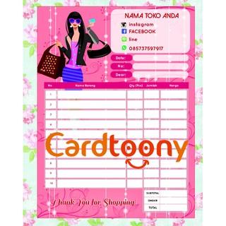 Nota Kwitansi Invoice Full Color Beauty Fashion Tas Make Up 1 Ply