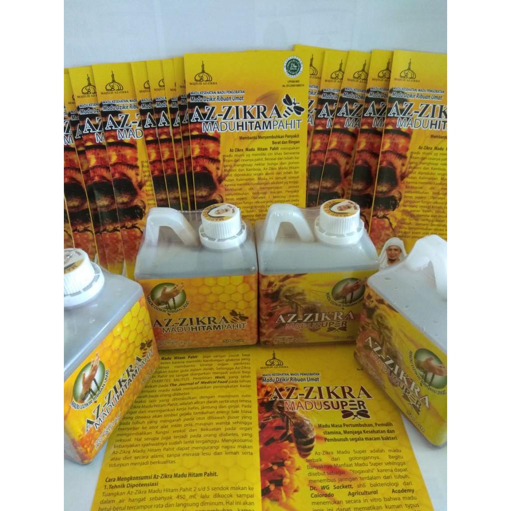 Az Zikra Madu Hitam Pahit Herbal Asli 500 gr - AzZikra Arifin Ilham | Shopee Indonesia
