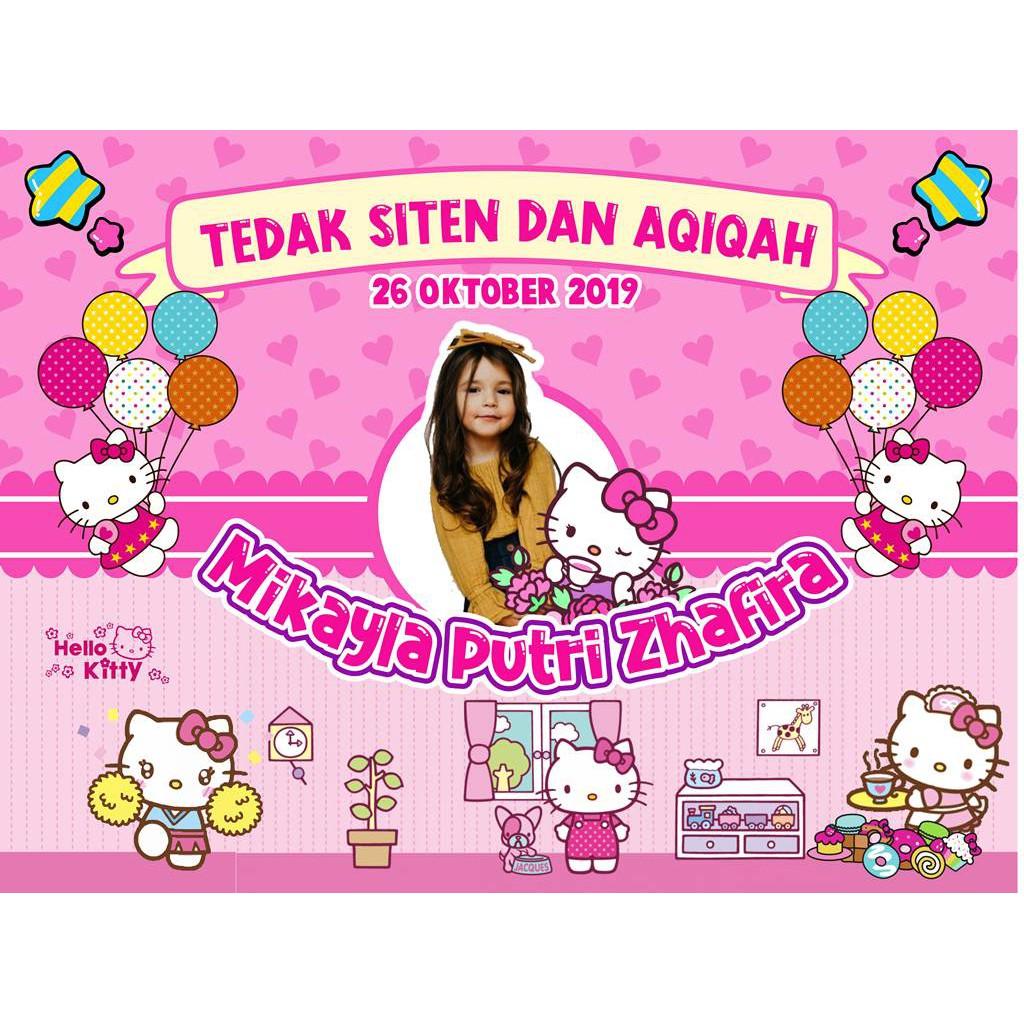 Banner Ulang Tahun Aqiqah Tedak Siten Anak Murah Shopee Indonesia Banner ulang tahun anak perempuan