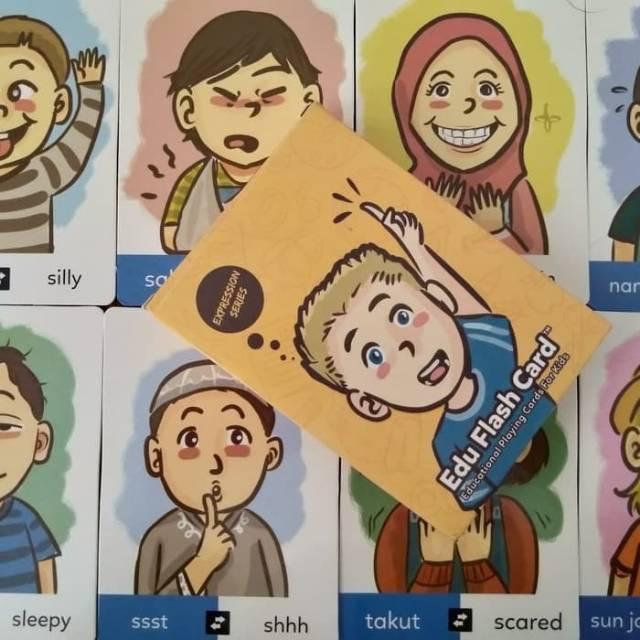 EDU FLASH CARD EXPRESSION Kartu Mainan Anak Seri