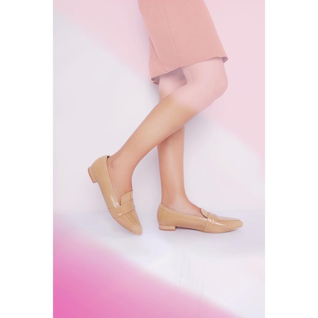 Amazara Jocelyn Black Glossy Flatshoes Shopee Indonesia Rachel Nude Loafers Ivory 37