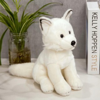 Silver Fox Stuffed Animal, Simulation Fox Dog Plush Toy Birthday Gift Silver Fox Dog Doll Doll Japanese Velvet Dog Decoration Gift Shopee Indonesia