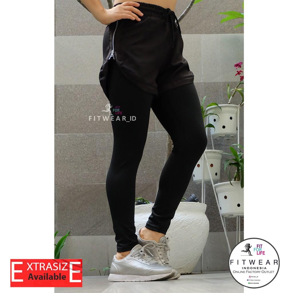 Celana Lari Wanita Inner Legging Fitness Yoga Zumba Zipper Grey Shopee Indonesia