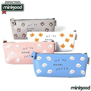 minigood NEW SERIES tempat pensil alat tulis desain karakter animal mini motif tulisan