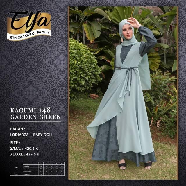 Gamis Dewasa Model Sarimbit Terbaru 2020 Ethica Kagumi 148 Garden Green Shopee Indonesia