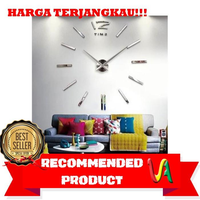 BAGUS 3D Giant Wall Clock   Jam Dinding Raksasa Unik Elegan Keren Gadgetnya  - Perak    4721682788