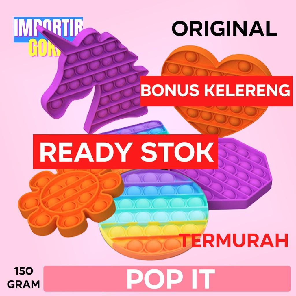 gratis ongkir pop it murah pop its murah unicorn rainbow